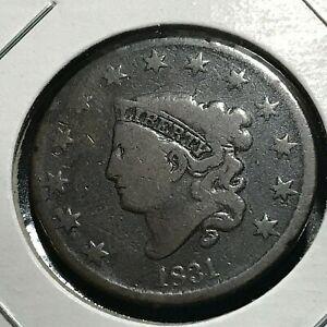 1831-LARGE-CENT-CORONET-HEAD-NICE-COIN