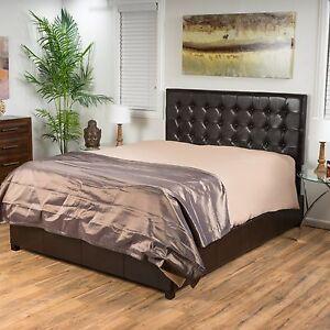 Denise Austin Home Lucca Tufted Bonded Leather Platform Bed Set Ebay