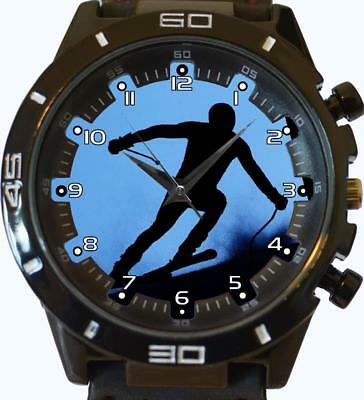 Armband- & Taschenuhren Armbanduhren Skifahrer Schnee Silhouette Neuheit Neu Trendy Serie Unisex Geschenk Armbanduhr