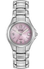 Citizen Eco-Drive Women's Silhouette Pink Floral Dial 25mm Watch EW1170-51X