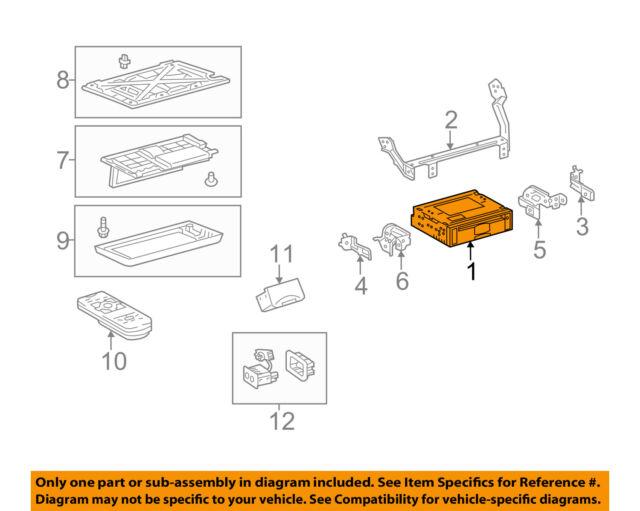 toyota oem 15-17 sienna entertainment system-dvd unit 8627045030