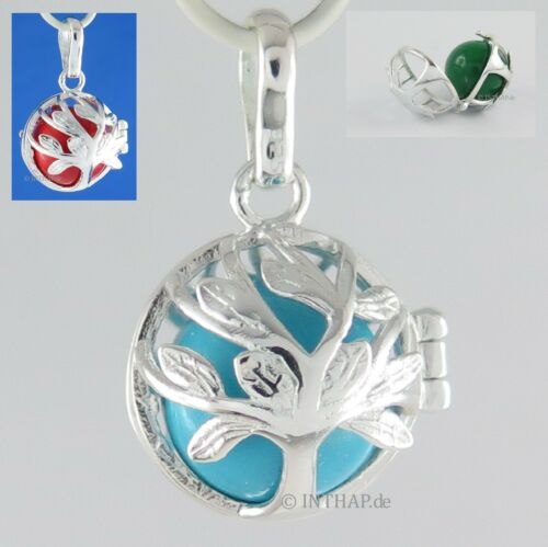 925 Silber - Baum des Lebens Anhänger Medaillon Amulett Elfenrufer Klangkugel