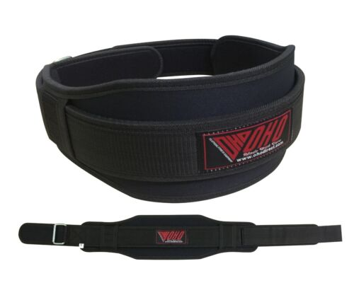 OHO® Weight Lifting Belt Neoprene Gym Fitness Workout Double Back Support Brace