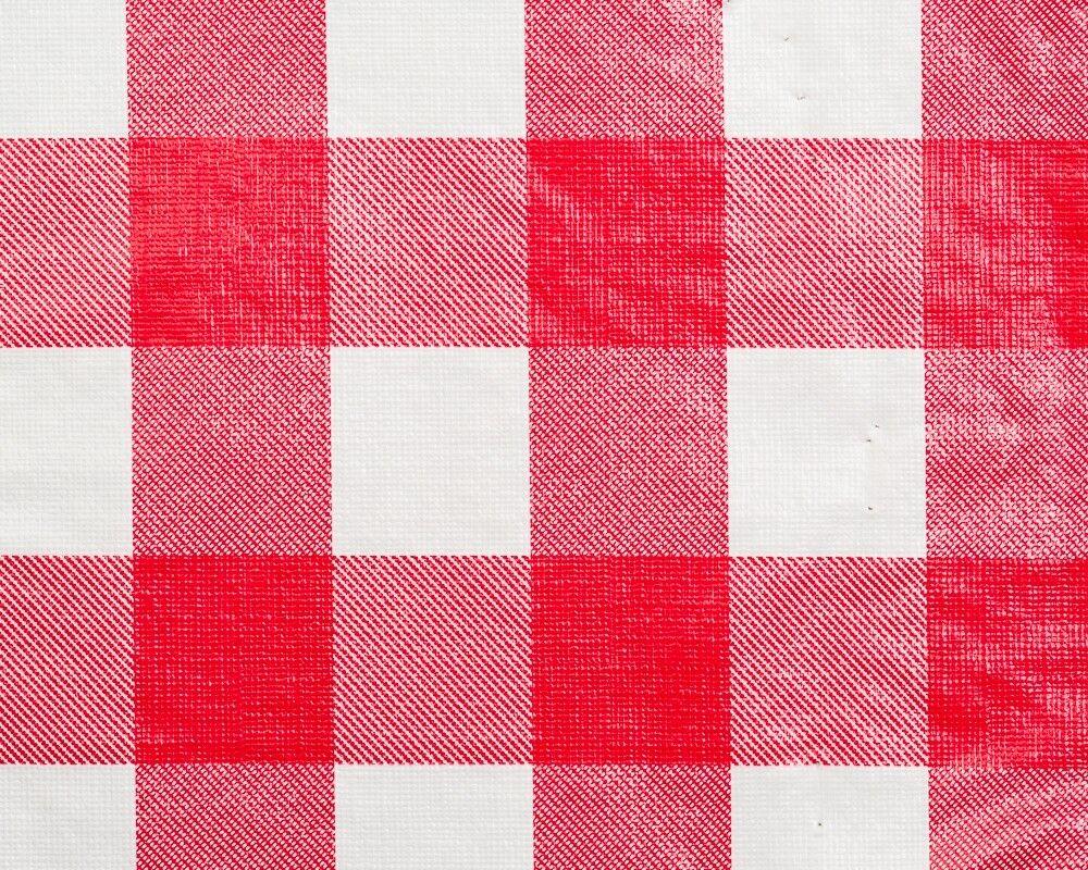 25 YDS BULK ROLL VINYL TABLECLOTH, CHESSMATE rouge 54  W