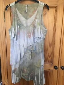 Long-Layered-Vest-Top-By-co2-From-Their-Vintage-Collection-Birds-Size-L