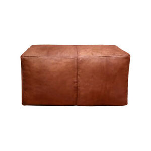 Awe Inspiring Details About Tan Moroccan Pouf Rectangular Leather Moroccan Pouffe Pouf Handmade Ottoman Foot Ibusinesslaw Wood Chair Design Ideas Ibusinesslaworg