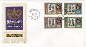 1978 Queen Elizabeth II 25th Anniversary of Coronation St. Lucia
