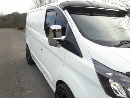 FORD TRANSIT CUSTOM TOURNEO minibus Rétroviseur Chrome Couvre Boîtier Caps for 2012