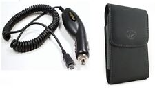 Car Charger+Case Belt Holster Pouch with Clip for Verizon Samsung Omnia 2 I920