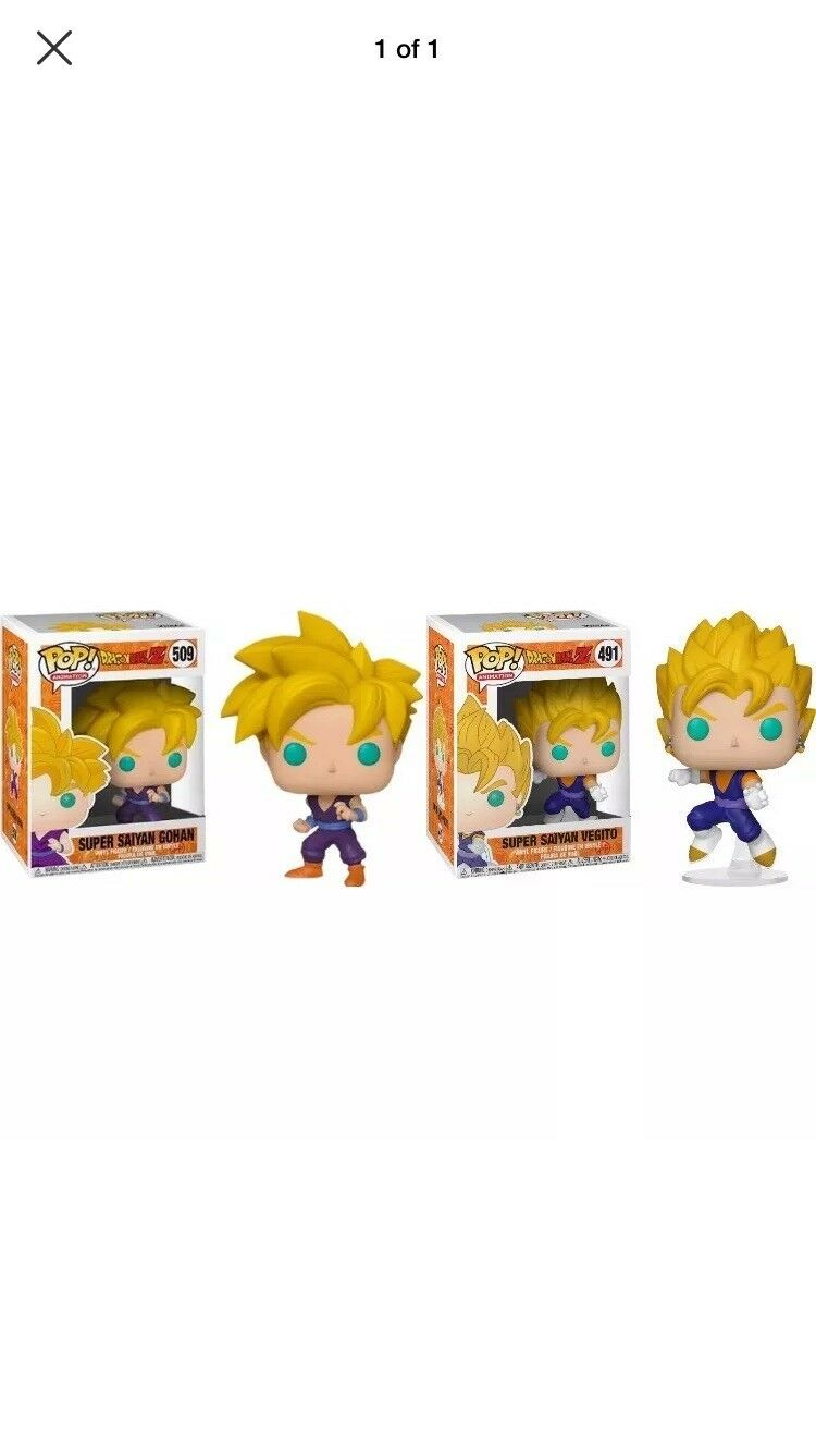 Dragonball Z Super Saiyan Gohan And Vegito Funko Pop  Vinyl Figure  PRE-ORDER