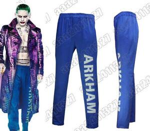 Joker Suicide Squad Arkham Asylum Cosplay Costume unisex Pants Batman Full Size  sc 1 st  Men\u0027s Clothing Crafts Affordable prices.Quality products! & Joker Suicide Squad Arkham Asylum Cosplay Costume unisex Pants ...