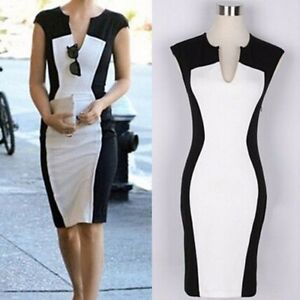 Stylish Women s Dress Evening Cocktail Party Bodycon Slim Fit Pencil ... 8e1e55890