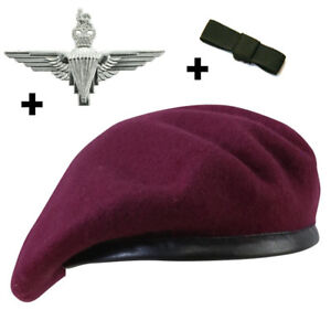 Details about THE PARACHUTE REGIMENT MAROON BERET SET WITH OPTIONAL CAP  BADGE AND BOW 55-60
