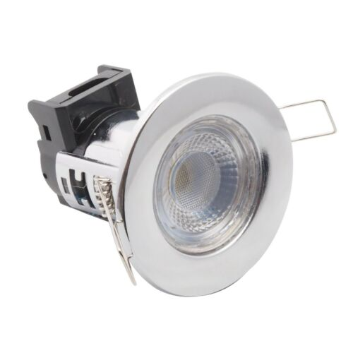 Downlight DEL 5 W dimmable intégré Fire Rated Chrome Poli 6400k x 10