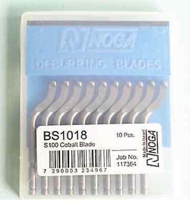 10Pcs NOGA BS1018 S100 Cobalt Swivel Blades Deburring Tool