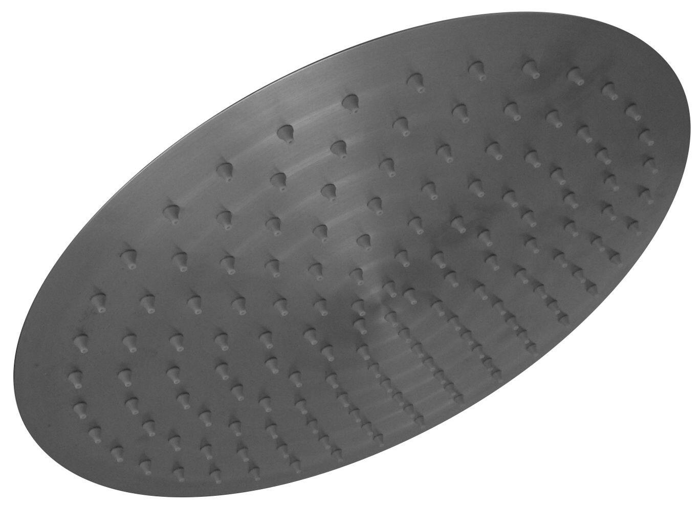 Acero inox Ducha lluvia Teléfono de Ducha O300mm slim cepillado de lanwa