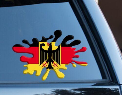 German Flag Splat funny Decal Sticker Car Laptop Van Germany National Pride