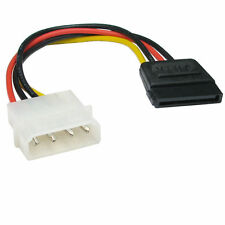 Molex to SATA Power Adaptor Cable 4 pin to 15 pin For HDD Hard Drive
