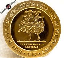 $.50 CENT FULL PROOF BRASS SLOT TOKEN SILVER SLIPPER CASINO 1967 FM LAS VEGAS NV