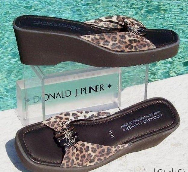 Donald Pliner Elastic Mesh Sandal Wedge scarpe New Flexible Non Slip Sole  220 NIB