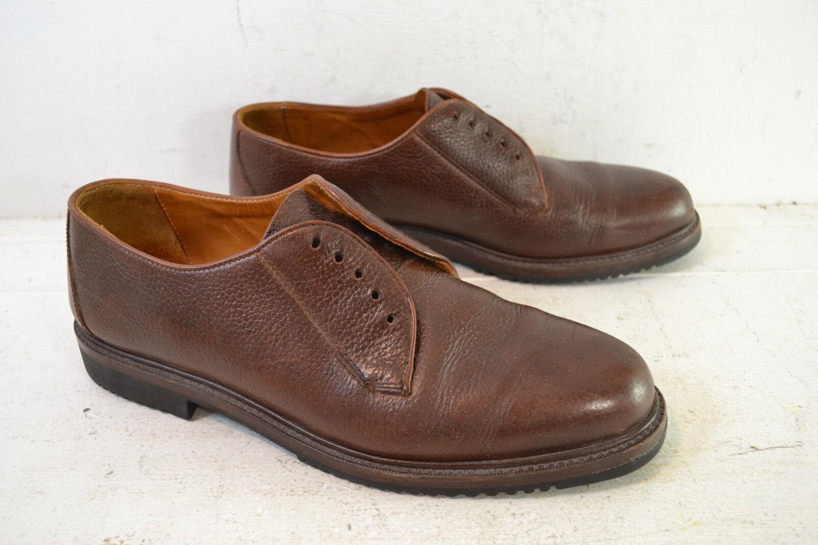 Cole Haan Pebbled Dark Brown Casual Blucher / Derby Shoes, Mn's 10.5 M