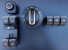 VW Golf 5 6 Chrom Fensterheber Schalter Lichtschalter Spiegel SET Passat 3C B6