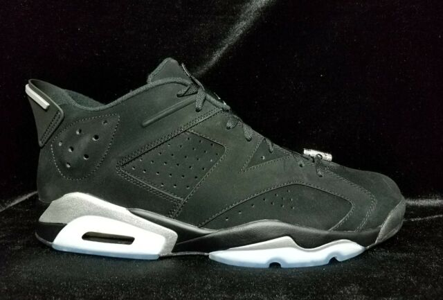 Nike Air Jordan 6 Retro Low Black Metallic Silver 13.5 Suede Infrared  304401-003 b3cddcccc693