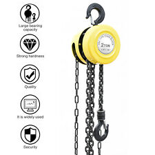 1 2 Ton Chain Hoist Puller Block Winch Steel Hardened Lifting Chain Tool Us