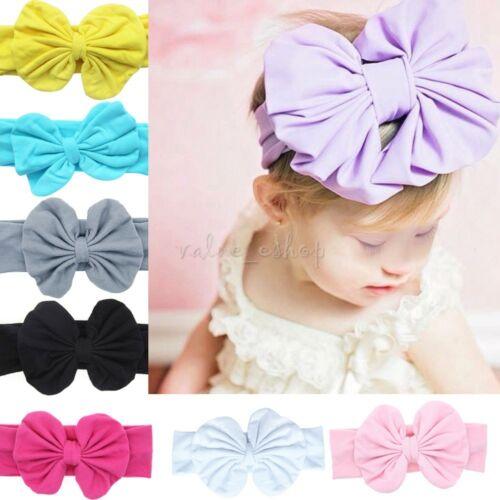 8 Baby Girl Kid Stretch bowknot Hairband Headband Baby Turban Knot Head Wrap Hot
