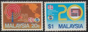 112-MALAYSIA-1984-ASIA-PACIFIC-BROADCASTING-UNION-SET-2V-FRESH-MNH-CAT-RM-9