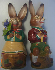 Candybox Osterhase Paar *sehr Alt! Pappmache 24cm* zum befülllen  //Süßigkeiten