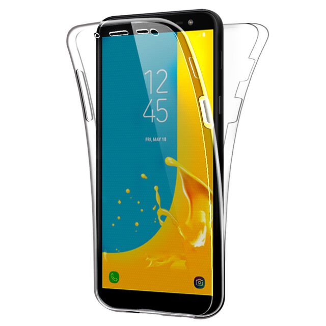 SDTEK Samsung Galaxy J6 (2018) Case 360 Full Cover Silicone Front + Back