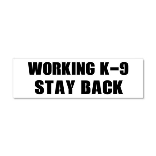 CafePress Working K 9 Car Magnet 10 x 3 Magnetic Bumper Sticker 1495806934