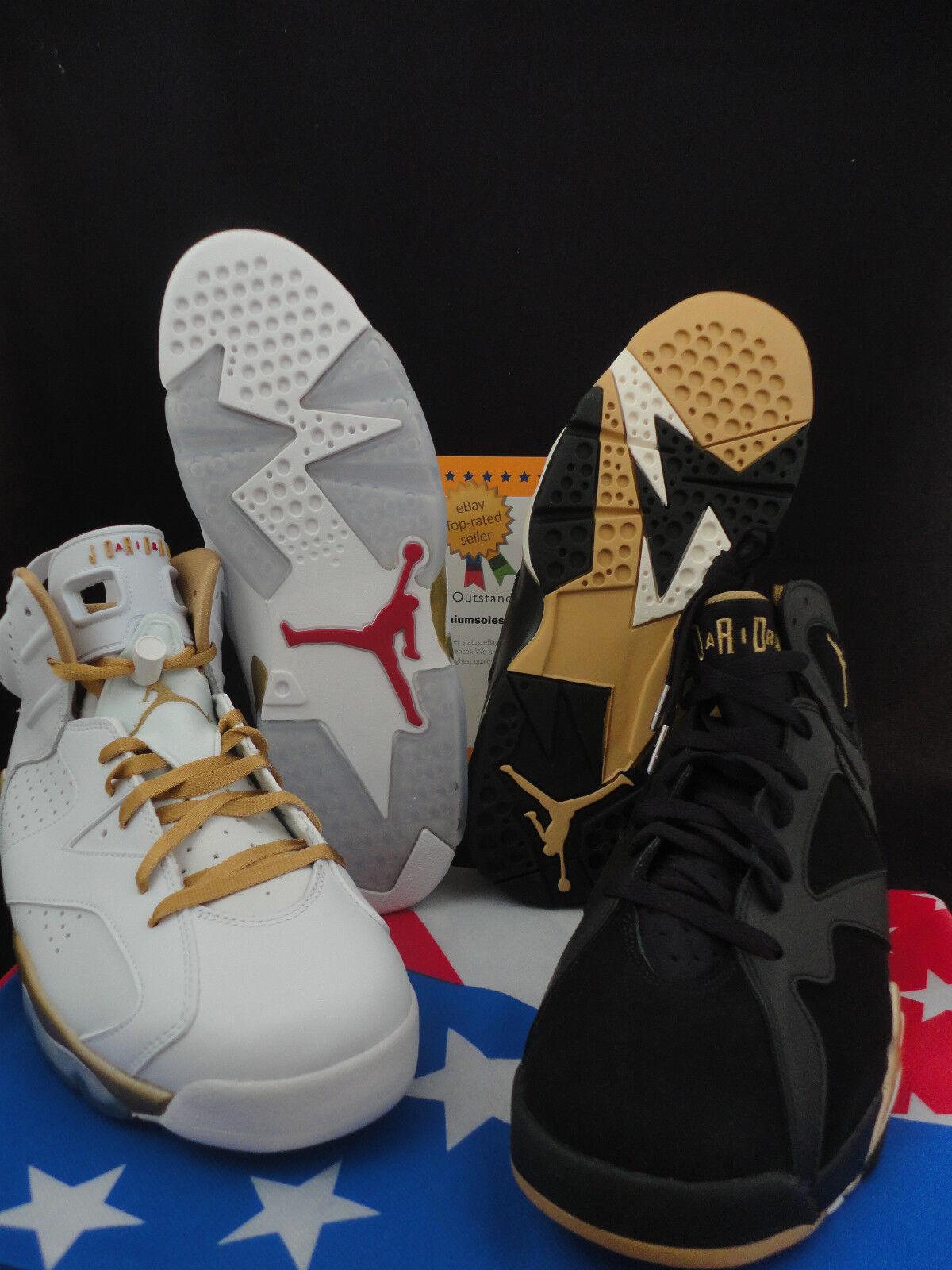 Nike Air Jordan Golden Moment Pack, Size 11.5, Olympics, GMP, Retro 6, Retro 7