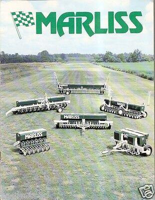 Farm Implement Brochure Marliss Seed Soybean Grain Drill F2064 EBay