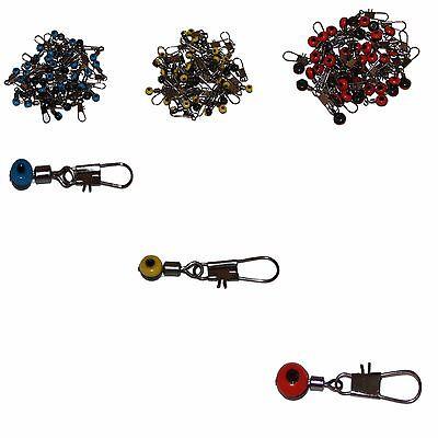 8 10 Stück Perlen Laufwirbel mit Karabiner Wirbel Angelwirbel Perlenwirbel Gr