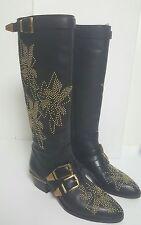 Worn once!Chloe Susanna studded knee boots.black.uk 3/36 (fits uk 4/37).£1340