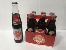 Vintage Old Clemson Tigers Coke 1981 Football National Championship Bottle