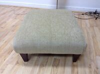 MOSELEY BEIGE FABRIC FOOTSTOOL