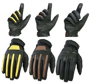 EVO Insulated Pure Leather Winter Gloves Cycling motorcycle Wheelchair Riding
