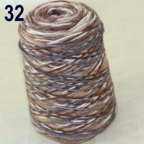 AIP 500gr Cone Yarn Chunky Hand Knitting Colorful Elegant Scarves Wrap Shawl 32