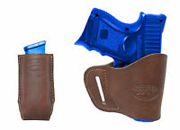 Barsony Brown Leather Yaqui Holster + Mag Pouch Walther Steyr Comp 9mm 40 45