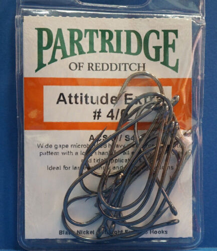 #4//0 Partridge ATTITUDE EXTRA  #4//0 ACS//E//S4 black nickel 15 Haken Gr