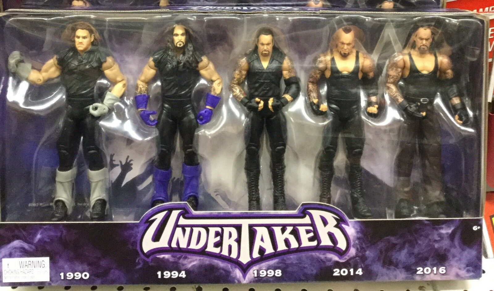 WWE UNDERTAKER Set Of 5 Action Figures. Years Of The Deadman    Brand New.