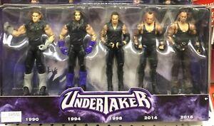 Wwe Undertaker Ensemble De 5 Figurines.   Ans l'homme mort !!!   Tout neuf.