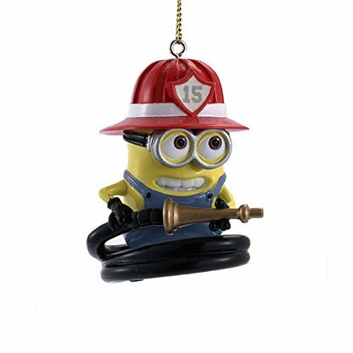 Despicable Me Minion Dressed as a Firefighter Christmas Tree Ornament  Decoration | eBay - Despicable Me Minion Dressed As A Firefighter Christmas Tree