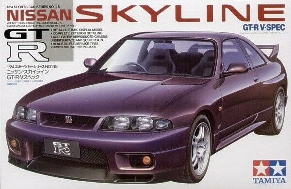 Tamiya 24145 Jdm Nissan Skyline Gtr R33 Model Kit Ebay