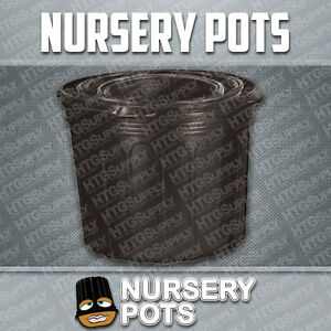 10-NURSERY-POTS-1-2-3-5-7-Gallon-GROW-BLACK-PLASTIC-gal