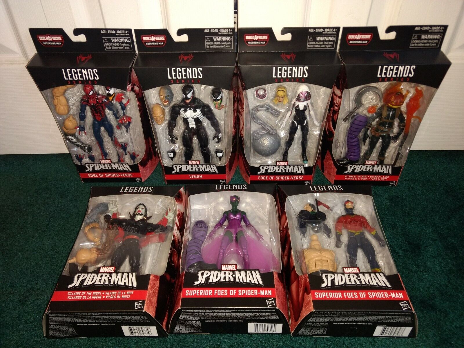 Marvel Legends Spiderhomme Absorbing Man BAF COMPLETE  ALL MISP Ben Reilly Venom +  acheter pas cher neuf