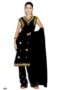 Salwar Kameez Set Carnaval Sari Boho Inde Bollywood Noir En 4 Tailles-afficher Le Titre D'origine